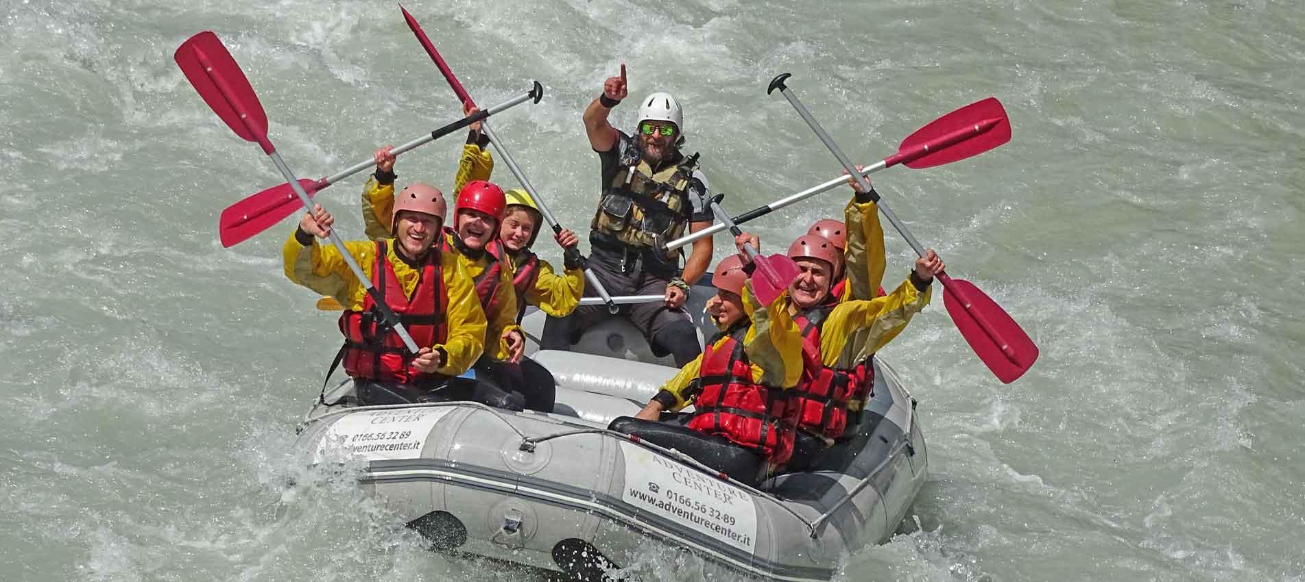 discesa rafting classica in Valle d'Aosta