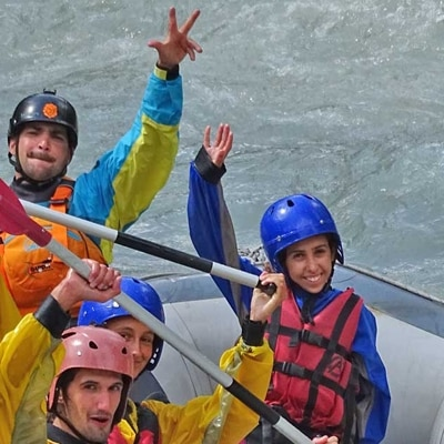 discesa rafting family in valle daosta
